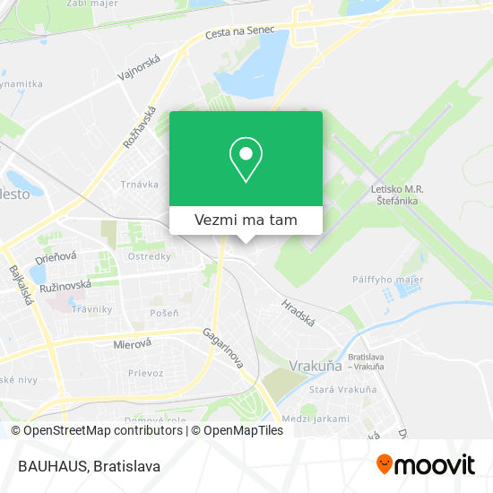 BAUHAUS mapa