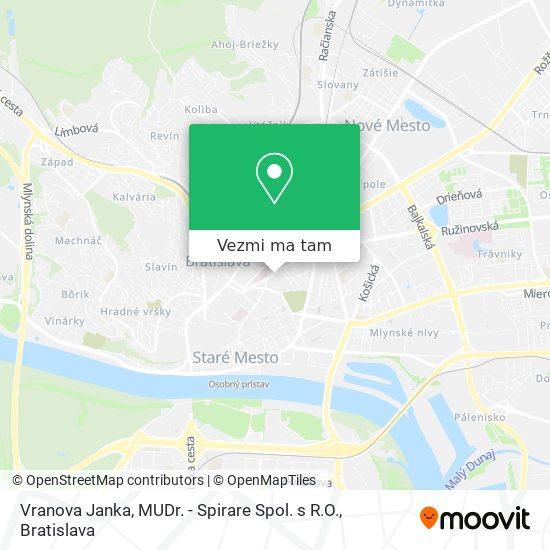 Vranova Janka, MUDr. - Spirare Spol. s R.O. mapa