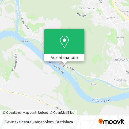 Devínska cesta-kameňolom mapa