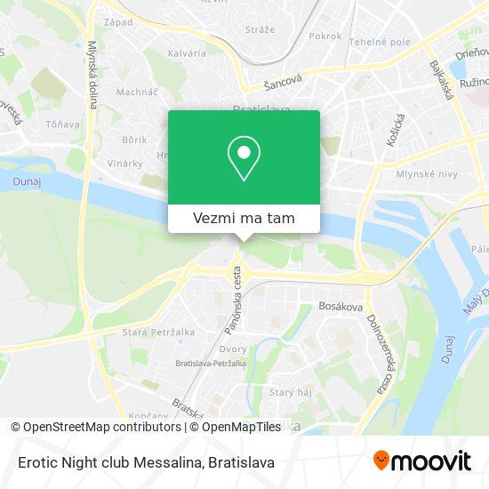 Erotic Night club Messalina mapa