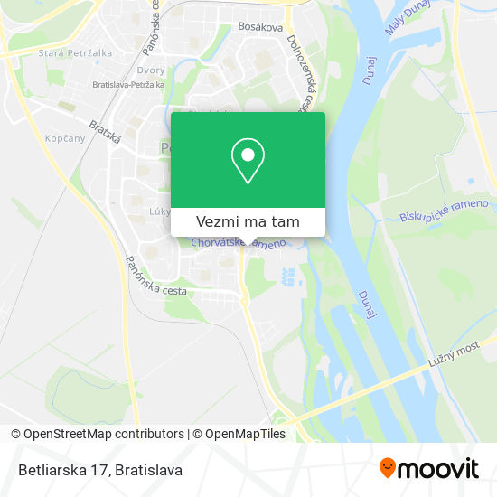 Betliarska 17 mapa