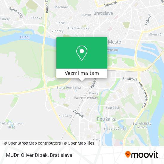 MUDr. Oliver Dibák mapa