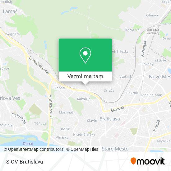 SIOV mapa