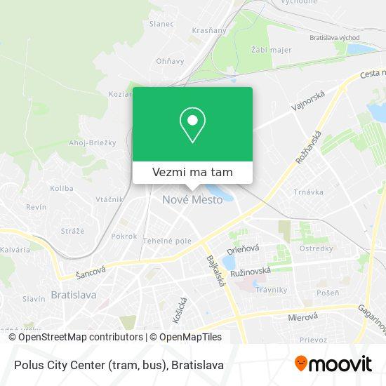 Polus City Center (tram, bus) mapa