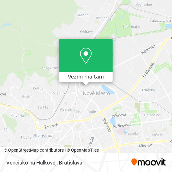 Vencisko na Halkovej mapa