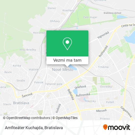 Amfiteáter Kuchajda mapa