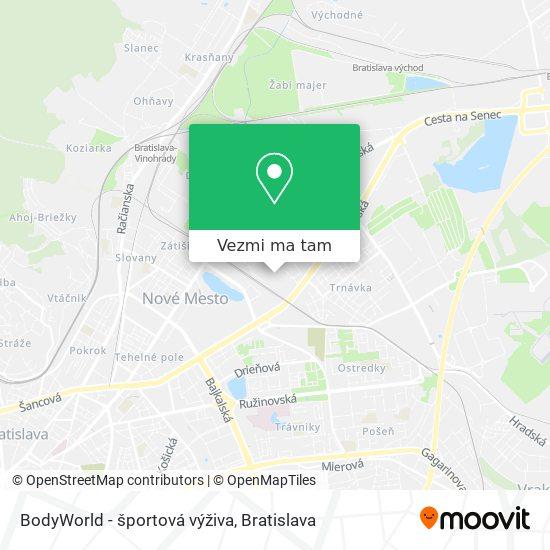 BodyWorld - športová výživa mapa