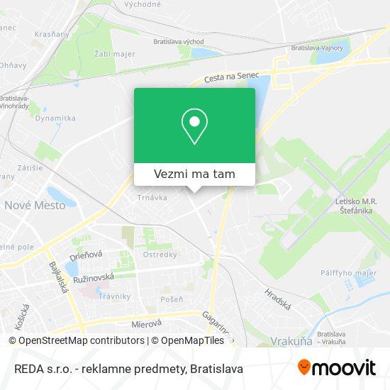 REDA s.r.o. - reklamne predmety mapa