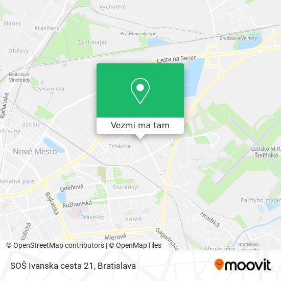 SOŠ Ivanska cesta 21 mapa
