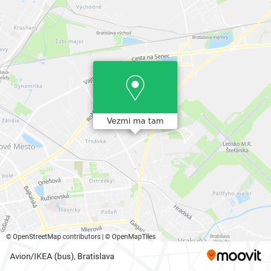 Avion/IKEA (bus) mapa
