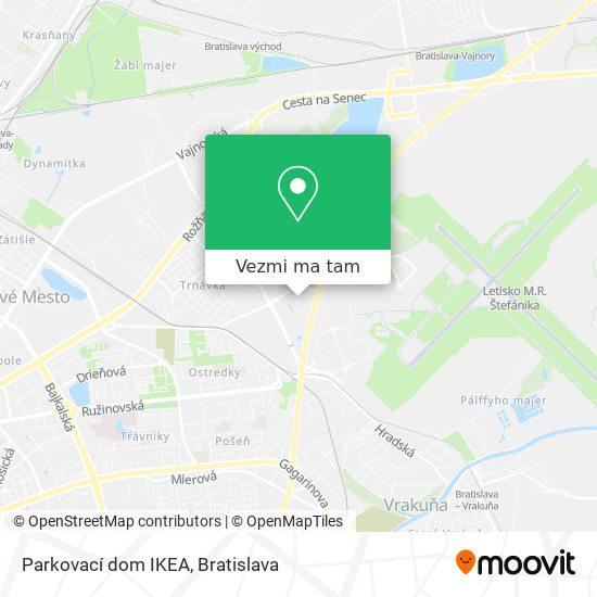 Parkovací dom IKEA mapa