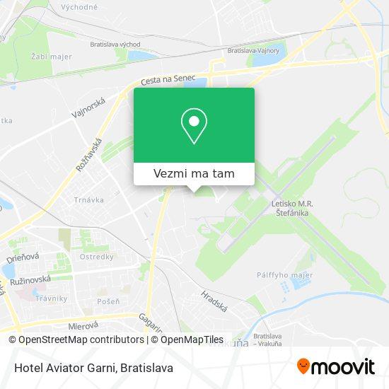Hotel Aviator Garni mapa