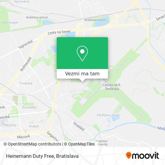 Heinemann Duty Free mapa