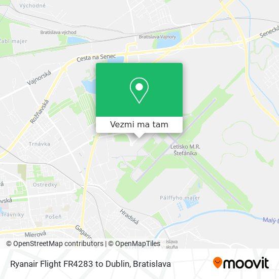 Ryanair Flight FR4283 to Dublin mapa