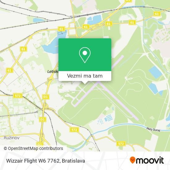 Wizzair Flight W6 7762 mapa