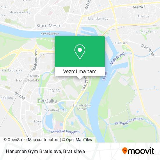 Hanuman Gym Bratislava mapa