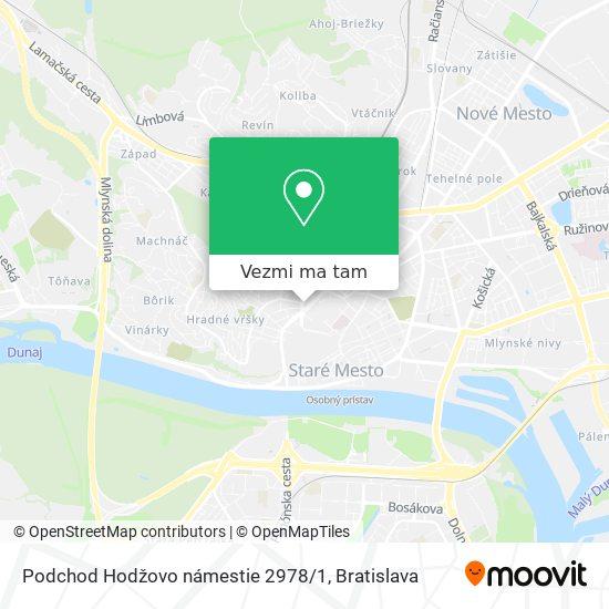 Podchod Hodžovo námestie 2978 / 1 mapa