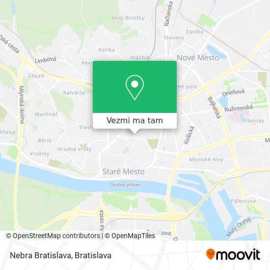 Nebra Bratislava mapa