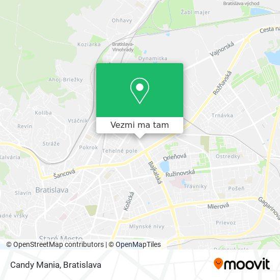 Candy Mania mapa