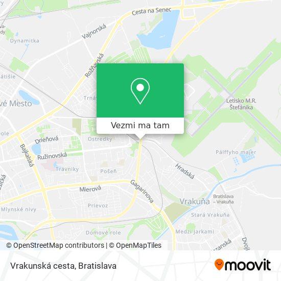 Vrakunská cesta mapa