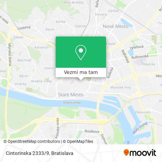 Cintorínska 2333/9 mapa