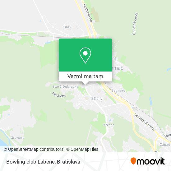 Bowling club Labene mapa