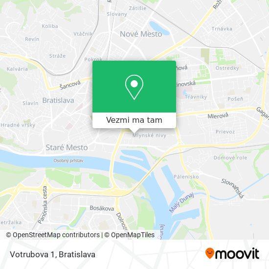 Votrubova 1 mapa
