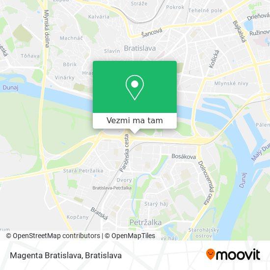 Magenta Bratislava mapa