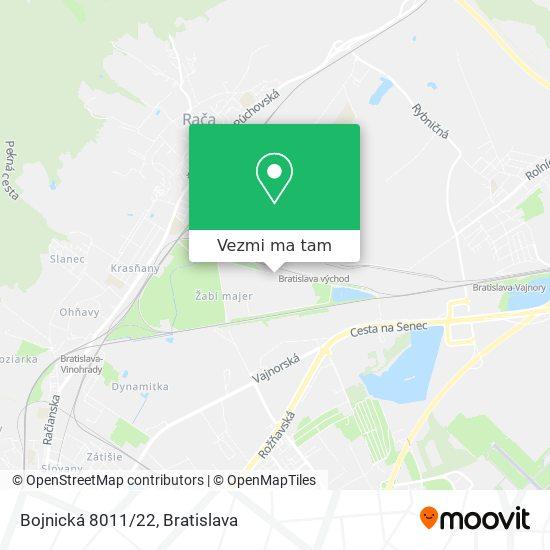 Bojnická 8011/22 mapa