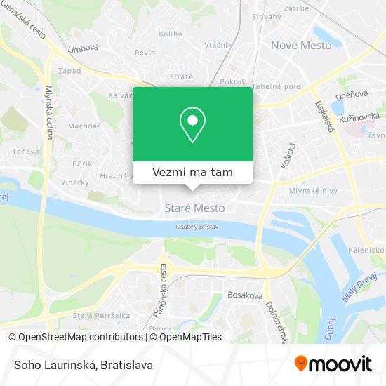 Soho Laurinská mapa