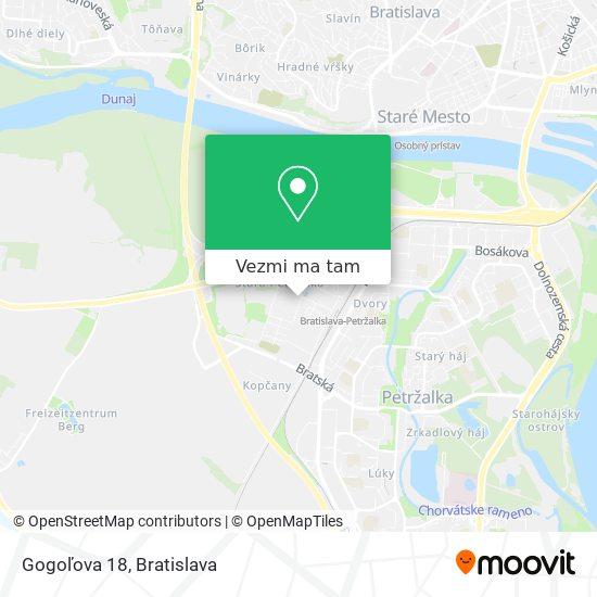 Gogoľova 18 mapa