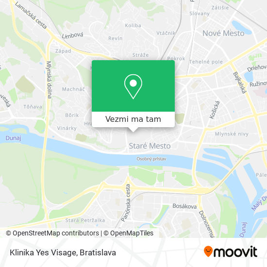 Klinika Yes Visage mapa