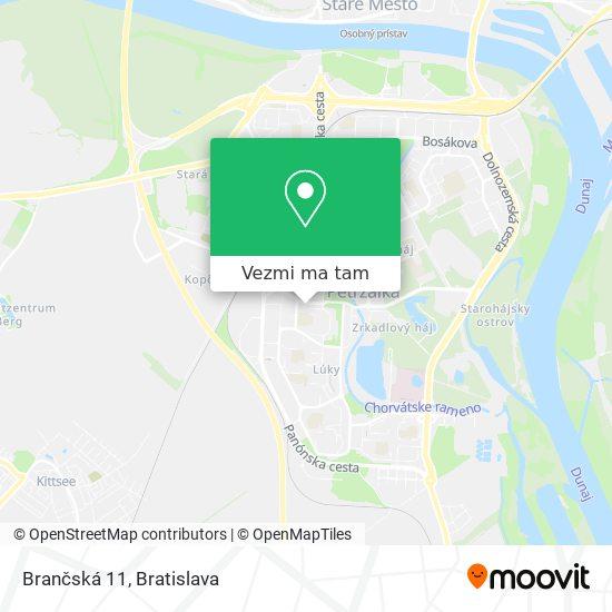Brančská 11 mapa