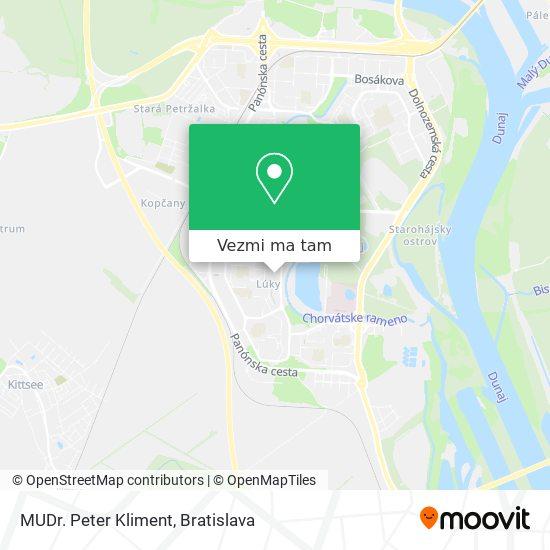 MUDr. Peter Kliment mapa