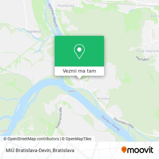 MiÚ Bratislava-Devín mapa