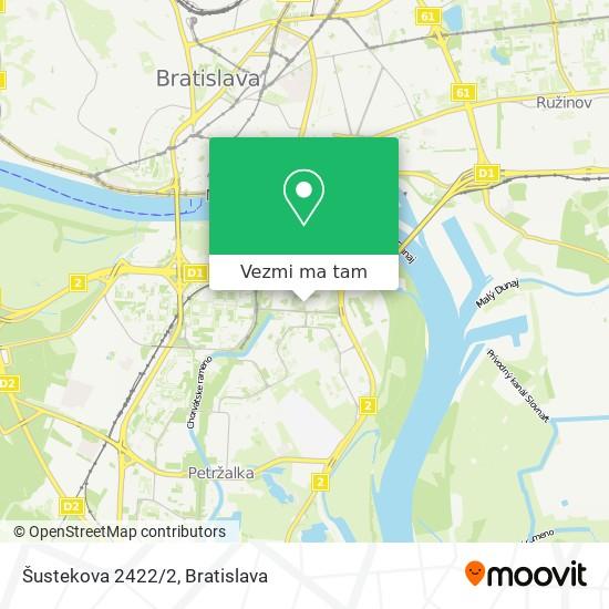 Šustekova 2422/2 mapa