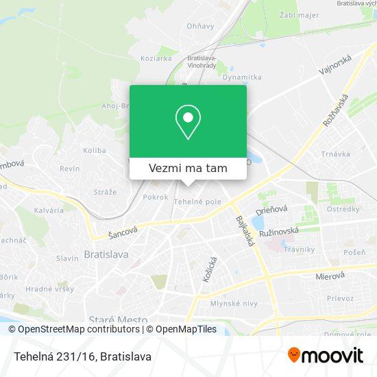 Tehelná 231/16 mapa