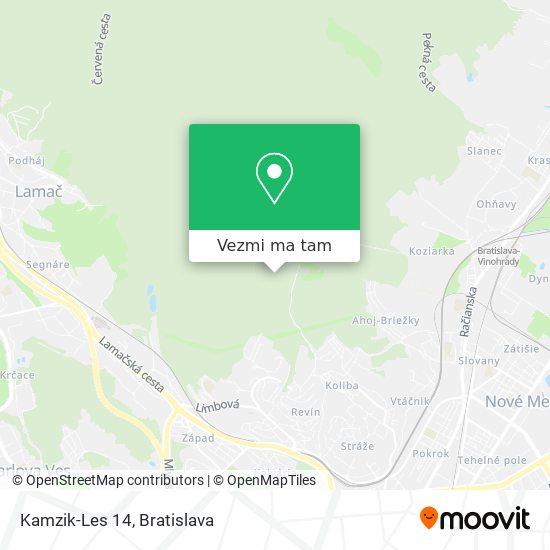 Kamzik-Les 14 mapa