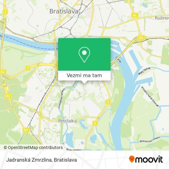 Jadranská Zmrzlina mapa