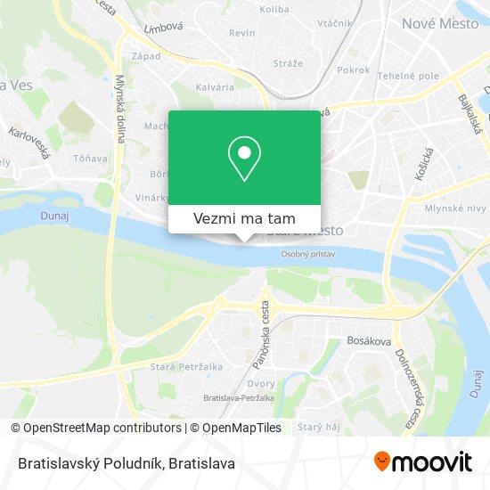 Bratislavský Poludník mapa