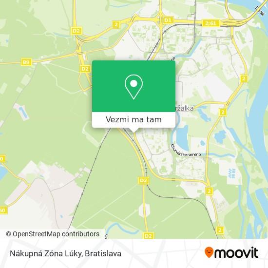Nákupná Zóna Lúky mapa