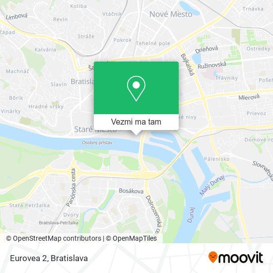 Eurovea 2 mapa