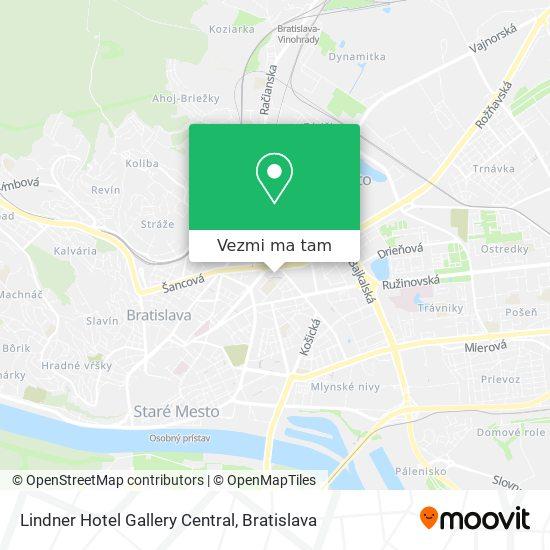 Lindner Hotel Gallery Central mapa