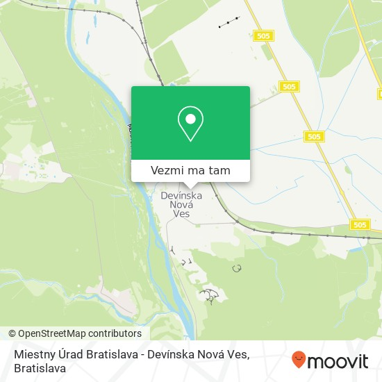 Miestny Úrad Bratislava - Devínska Nová Ves mapa