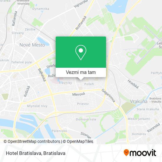 Hotel Bratislava mapa