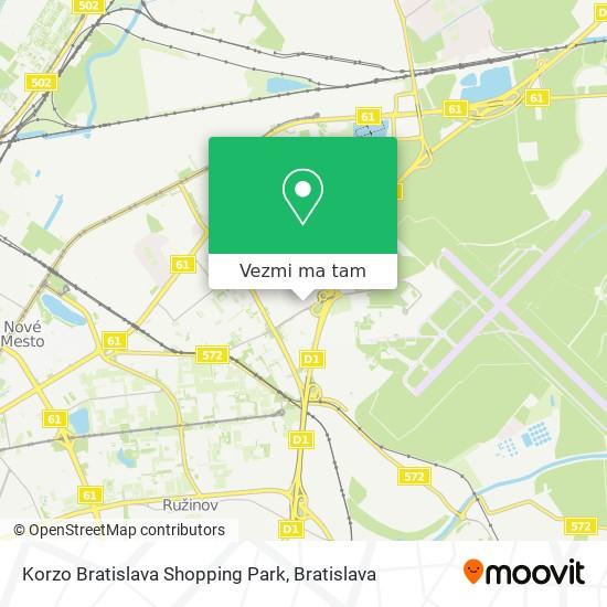 Korzo Bratislava Shopping Park mapa