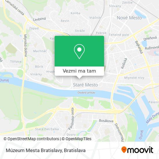 Múzeum Mesta Bratislavy mapa