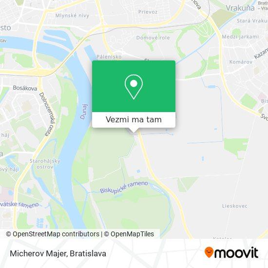 Micherov Majer mapa