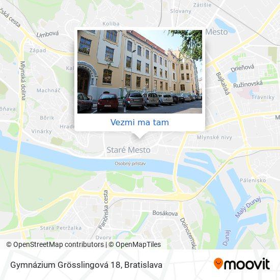 Gamča - Gymnázium Grösslingová 18 mapa