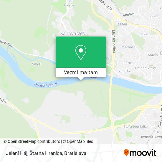 Jelení Háj mapa